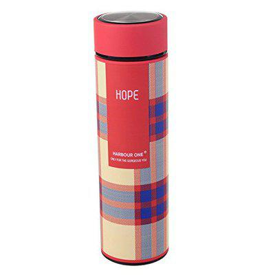 Home Story Double Wall Vacuum Insulated Stainless Steel Flask BPA Free Thermos Travel Water Bottle Sipper 480 ml - Hot and Cold 12 Hours, Cream Red Color (Hope)