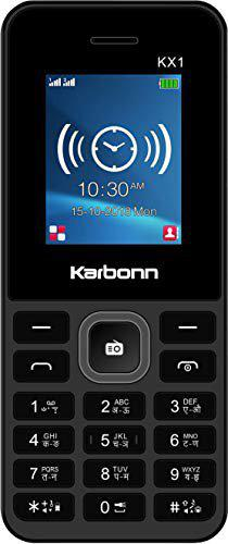 Karbonn KX1 (Grey-Black, 32MB RAM, 32MB Storage)