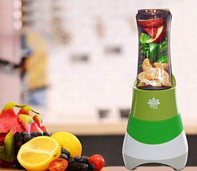 BMS LIFESTYLE Personal Blender -Smoothie Blender with Travel Portable Bottle, Electric Mini Blender Stainless Steel 4-Blade for Juice, Shakes and Baby Food (DARK GREEN)