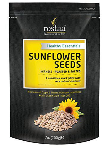 Rostaa Sunflower seeds Pack of 1Kg (Pack of 5 x 200 Gm)