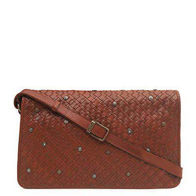 Da Milano Men's Leather Sling Bag (Cognac)