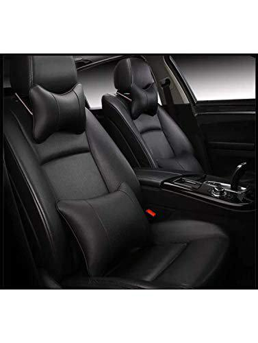 Hi Art Black Leatherette Custom Fit Front and Rear Car Seat Covers Compatible with Tata Indica Vista