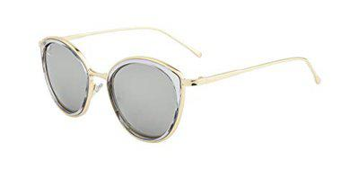 clark n palmer Mirrored Cat Eye Women's Sunglasses - (CNP-4104-C3|55|Silver Color Lens)