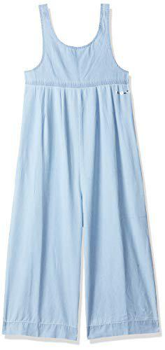 Pepe Jeans Girl's Regular fit Jumpsuit (PG230227F49_Soft Denim-Ice Wash_14-15 Years)