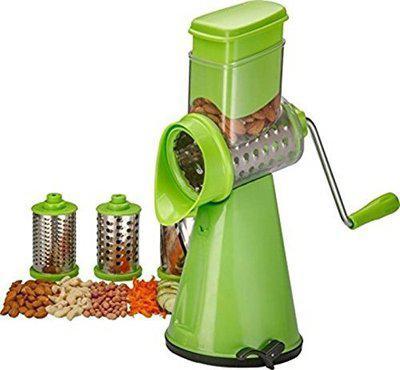 Delavala 3 in 1 Drum Grater Shredder Slicer for Vegetable, Fruits, Chocolate, Dry Fruits, Salad Maker with 4 Different Attractive Drums