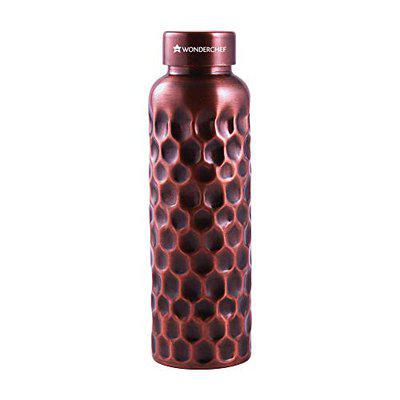 Wonderchef Cu Artisan Single Wall Water Bottle, 1000ml