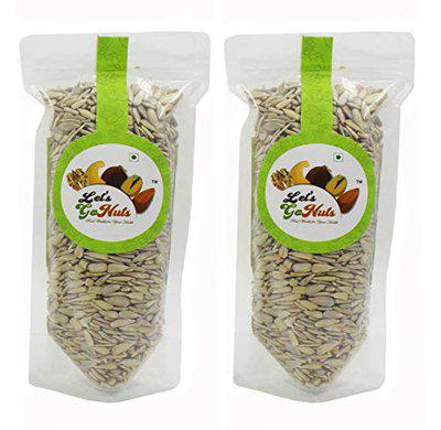 LET'S GO NUTS Raw Sunflower Seeds (Without Shell), 450 Grams (Pack of 2)