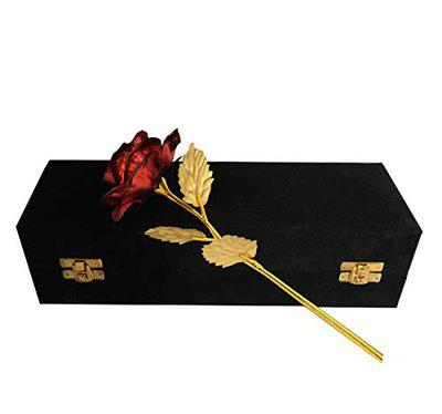 INTERNATIONAL GIFT Foil Rose with Luxury Gift Box (Red)