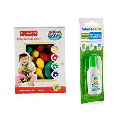 Mamaearth Baby mosqut Fabric Roll 8ml and Fisher Price Activity Chain