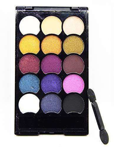 firstzon 15 color matte and shimmer combo eyeshadow palette (B) 17.5 g