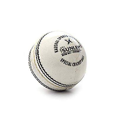 Sunley Cricket Leather Ball (White)
