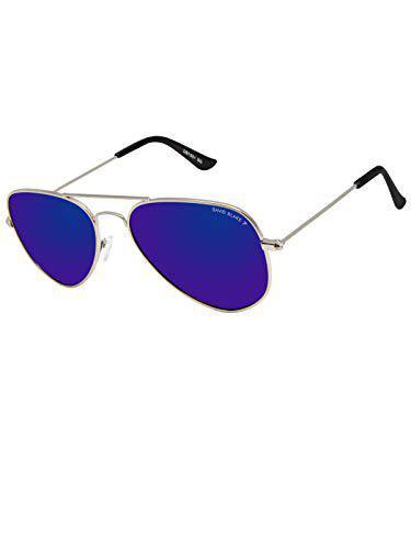 David Blake Blue Aviator Polarised UV Protected Sunglass - SGDB1657x1001SIL|58 mm