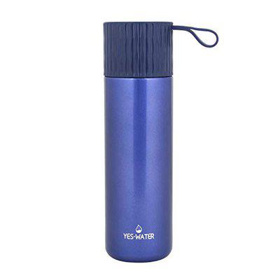 Online World Water Bottle Thermo Double Wall Insulated Vacuum Flask with BPA Free Stainless Steel (450 ml, Blue)