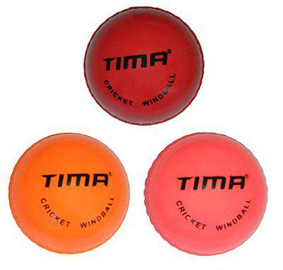 Tima Wind Hollow Cricket Ball (Multicolor) (Pack of 3)