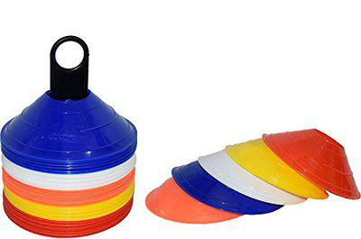 SAS Sports Saucer Cone (Set of 25) for Agility Training, Football, Soccer, Field Marking, Speed Coordination Multi Color Assorted