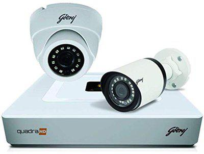 Godrej Security Solutions See Thru 4MP 4 Channel 1 Dome 1 Bullet Cameras Without Hard Disk HD Full CCTV Camera Kit(4MP4CH1D1B)