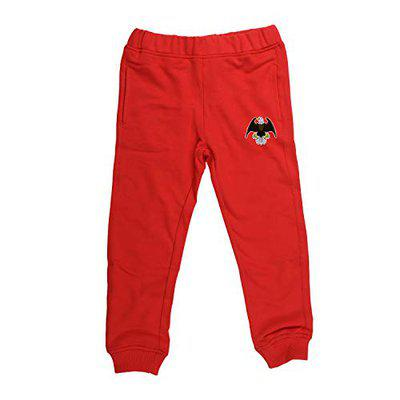wear your mind Unisex's Regular fit Trousers (KJ027.5_Red_11-12 Years)