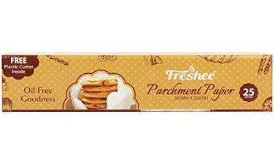 Freshee Parchment Paper Roll 25m x 300mm, Baking Paper, Food Wrap, Butter Paper, Baking Wrap, Microwave Safe Cooking Paper