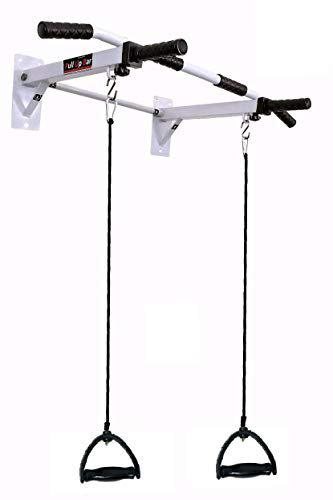 IBS Pull up Bar Home Gym Solid Fitness Gym Accessories (Color- White)
