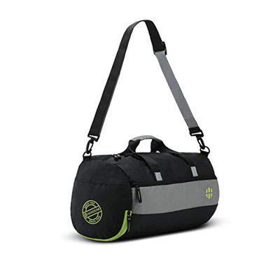 Harissons Trinity Polyester Gym Duffel, Sports Bag for Men and Women with Shoe Compartment (28 Ltrs, Black, Green)