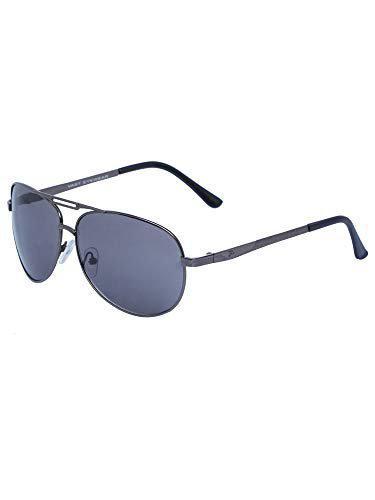 Vast UV Protection Aviator Gun Smoke Men's and Women's Sunglasses (52, Blue)