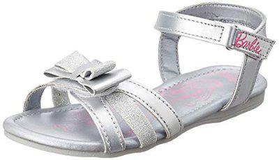 Barbie Girl's Silver Fashion Sandals-10 Kids UK/India (28 EU) (STY-18-19-002221)