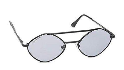 Fastrack UV Protected Round Women's Sunglasses - (M207BK1F 53 Grey Color Lens)