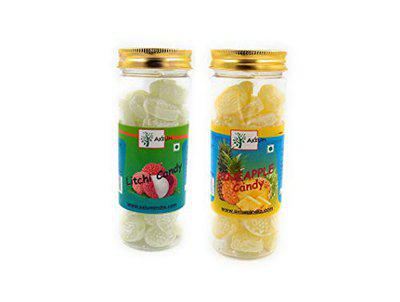 Axium Flavoured Sweet Litchi, Pineapple Candy Toffee Combo Pack (400 Gram)