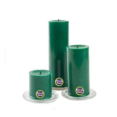 First Row Wax Scented Pillar Candles With Tray Stand, Set Of 3, Chelsea