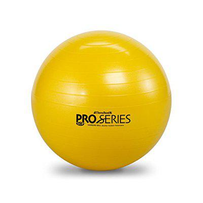 TheraBand Exercise and Stability Ball for Improved Posture, Balance, Core Fitness, Coordination, Rehab, Pro Series SCP Slow Deflate Burst Resistant 45cm (Yellow)