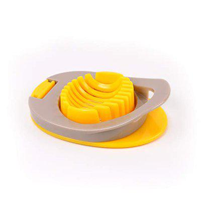 Classy Touch Egg Cutter Boiled Egg Slicer with Stainless Steel Cutting Wire (11 cm - Yellow)