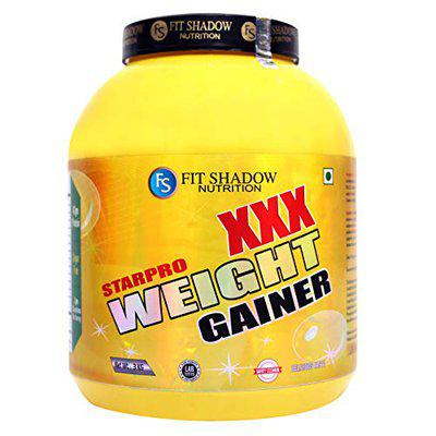 FIT SHADOW High Protein Weight Gainer Mass Gainer Powder (Banana 3kg / 6.6 Lbs) Sugar Fee,Low Carb,Low Fat Best Weight Gainer Supplement For Men,Women,Boys,Beginner.