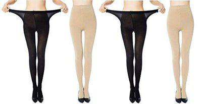 Yorker Panty Hose Long Exotic Stockings Tights for Women's & Girls Combo Pack of 4 Pair