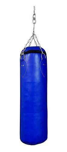 Shubhras Blue Synthetic Leather Unfilled Punching Bag Kit,Boxing Bag,Kickboxing Bag with Hanging Chain(Size 7ft,84Inch)
