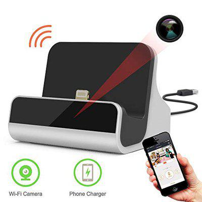 visionrabbit Jasoos Survilliance Brand DC01 Dock Charger Hidden Spy Wireless WiFi HD IP Camera CCTV with SD Card Slot (Compatible with Android & iPhone) [ Charger Type-Micro USB]