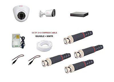 CP PLUS 2.4MP CCTV Camera KIT (2.4MP1DOME1BULLET)