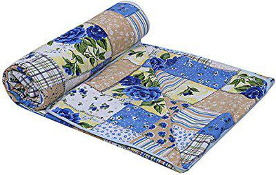 Craft Trade Soft and Light Weight Designer Printed Double Bed Dohar/Ac Comforter for Home (Blue1)