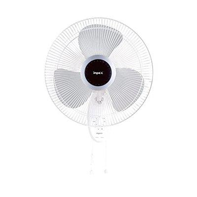 Impex WEAVE-O5 High Speed 3 Blade Wall Fan With 400 mm Sweep & 1350 Rpm (55 Watts,White & Gray)