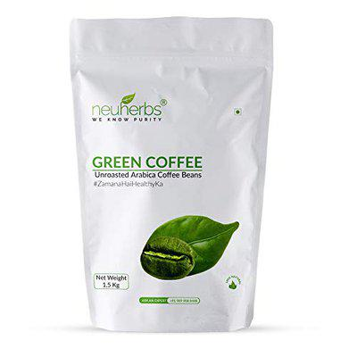 Neuherbs Green Coffee Beans for Natural Immunity Booster And Your Weight loss Management 1.5 Kg
