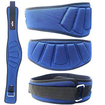 APRODO Power Guidance Nylon Weightlifting Belt Lumbar Waist Support Trainer Protector Belts for Weight Lifting Fitness Sport Gym (Blue, X-Large)
