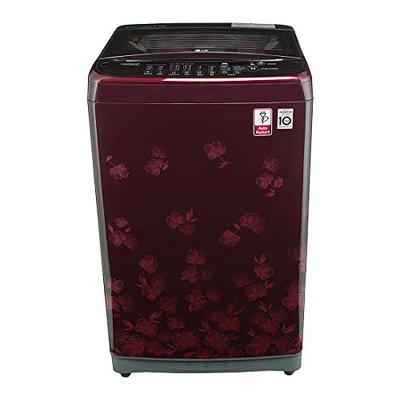 LG 6.5 Kg Inverter Fully-Automatic Top Loading Washing Machine (T7577NDDL8, Floral Red)