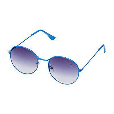 Vast Round Metal Gradient Blue UV Protection Sunglasses For Men And Women (3447C10BB)
