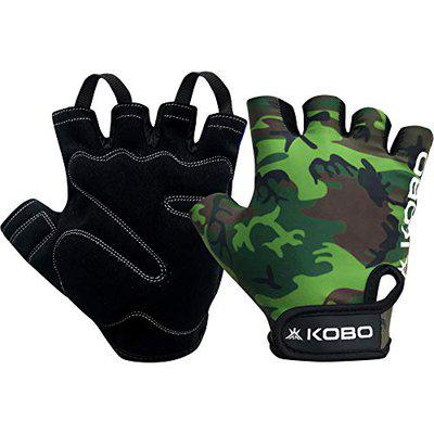 Kobo WTG-30-XL Weight Lifting Gym Gloves Camouflage Hand Protector for Fitness Training