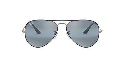 Ray-Ban Mirrored Aviator Unisex Sunglasses (0RB3025|54.5 mm|Blue)