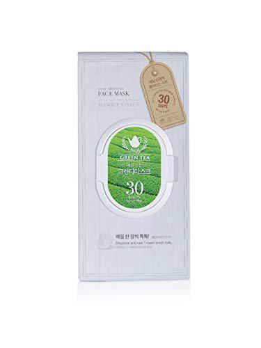 The Face Shop Daily Green Tea Face Mask (30 Sheets), 350 ml