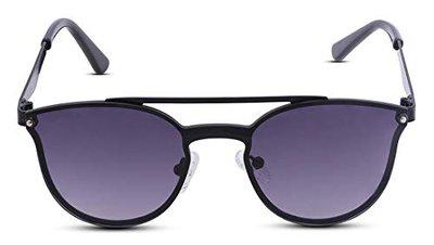 Fastrack UV Protected Square Women's Sunglasses - (U006BK1|60|Black Color Lens)