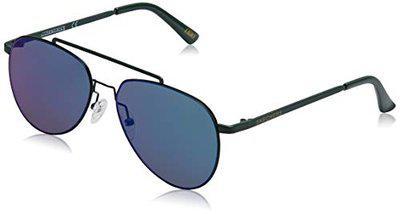 Skechers UV Protected Aviator Unisex Sunglasses - (SE6027 57 96Q|57|shiny dark green/green mirror Color Lens)
