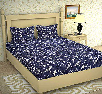 New panipat textile zone Microfibre Double Bedsheet with 2 Pillow Covers (Multicolour, 90 x 92 inch)