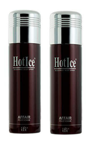 Hot Ice Affair Men Deodorant Spray 200 ml Pack Of 2