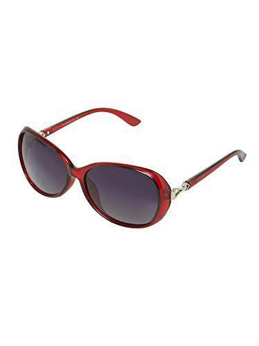 Vast Polarized Over sized Women Red Sunglasses (1731_C2_RED_GREY)
